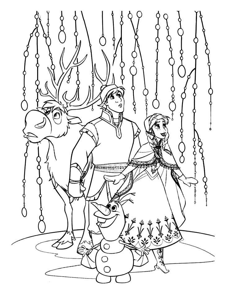Ausmalbilder Für Kinder Disney Frost Malvorlagen